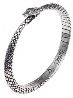 Sophia Serpent Ouroborus Pewter Bangle Bracelet Gothic Plus Gothic Clothing, Jewelry, Goth Shoes & Boots & Home Decor