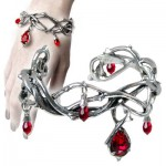 Passion Pewter Thorn and Blood Drop Bracelet