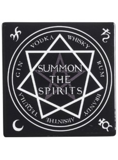 Summon the Spirits Ceramic Coaster Gothic Plus Gothic Clothing, Jewelry, Goth Shoes & Boots & Home Decor