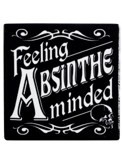Feeling Absinthe Minded Ceramic Coaster Gothic Plus Gothic Clothing, Jewelry, Goth Shoes & Boots & Home Decor