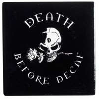 Death Before Decaf Gothic Ceramic Coaster