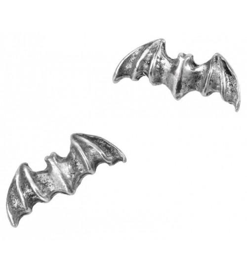 Bat Stud Pewter Earrings