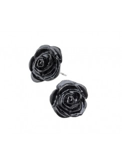 Black Rose Stud Earrings Gothic Plus Gothic Clothing, Jewelry, Goth Shoes & Boots & Home Decor