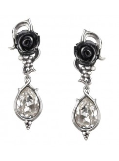 Bacchanal Black Rose Drop Earrings Gothic Plus Gothic Clothing, Jewelry, Goth Shoes & Boots & Home Decor