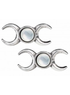 Triple Goddess Stud Earrings Gothic Plus Gothic Clothing, Jewelry, Goth Shoes & Boots & Home Decor