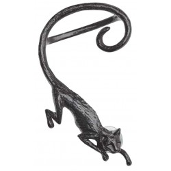 Black Cat Sith Earwrap Earring Gothic Plus Gothic Clothing, Jewelry, Goth Shoes & Boots & Home Decor