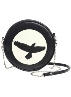 Raven Moon Round Shoulder Bag Gothic Plus Gothic Clothing, Jewelry, Goth Shoes & Boots & Home Decor
