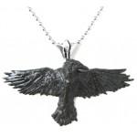 Black Raven Pewter Necklace