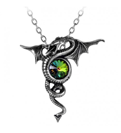 Anguis Aeternus Dragon Pewter Necklace at Gothic Plus,  Gothic Clothing, Jewelry, Goth Shoes, Boots & Home Decor