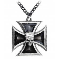 Black Knights Cross Pewter Necklace Gothic Plus Gothic Clothing, Jewelry, Goth Shoes & Boots & Home Decor