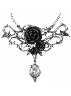 Bacchanal Black Rose Victorian Necklace Gothic Plus Gothic Clothing, Jewelry, Goth Shoes & Boots & Home Decor