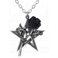 Ruah Vered Pentacle Rose Gothic Necklace