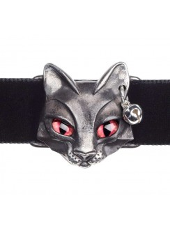 Bastet Egyptian Goddess Pewter Choker Gothic Plus Gothic Clothing, Jewelry, Goth Shoes & Boots & Home Decor