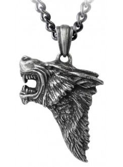 Dark Wolf Pendant with Chain Gothic Plus Gothic Clothing, Jewelry, Goth Shoes & Boots & Home Decor