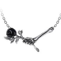 Love Never Dies Black Rose Necklace