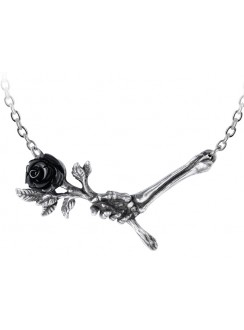 Love Never Dies Black Rose Necklace Gothic Plus Gothic Clothing, Jewelry, Goth Shoes & Boots & Home Decor