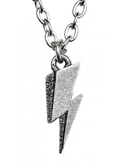 David Bowie Flash Logo Necklace Gothic Plus Gothic Clothing, Jewelry, Goth Shoes & Boots & Home Decor
