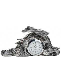 Dragonlore Desk Clock Gothic Plus Gothic Clothing, Jewelry, Goth Shoes & Boots & Home Decor