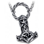 Mjollnir Thors Hammer Pewter Necklace