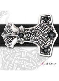 Thunder Hammer Pewter Thor Belt Buckle Gothic Plus Gothic Clothing, Jewelry, Goth Shoes & Boots & Home Decor