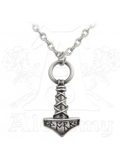 Thors Hammer Pewter Amulet Pendant Gothic Plus Gothic Clothing, Jewelry, Goth Shoes & Boots & Home Decor