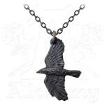 Ravenine Black Raven Pewter Necklace