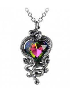 Heart of Cthulhu Gothic Swarovski and Pewter Necklace Gothic Plus Gothic Clothing, Jewelry, Goth Shoes & Boots & Home Decor