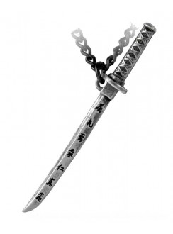 Bushido Pewter Necklace Gothic Plus Gothic Clothing, Jewelry, Goth Shoes & Boots & Home Decor