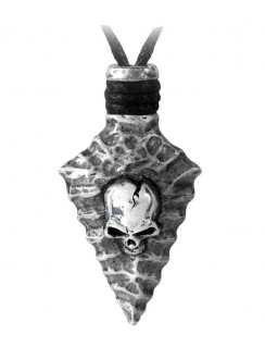 Capitaneus Pewter Skull Arrowhead Necklace Gothic Plus Gothic Clothing, Jewelry, Goth Shoes & Boots & Home Decor