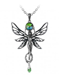 Green Goddess Absinthe La Fee Vert Necklace Gothic Plus Gothic Clothing, Jewelry, Goth Shoes & Boots & Home Decor