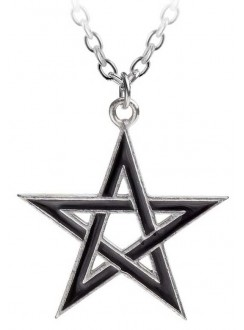 Black Star Pentagram Pendant with Chain Gothic Plus Gothic Clothing, Jewelry, Goth Shoes & Boots & Home Decor