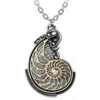 Fibonacci Golden Spiral Pewter Necklace