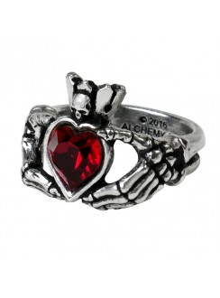 Claddagh by Night Pewter Ring Gothic Plus Gothic Clothing, Jewelry, Goth Shoes & Boots & Home Decor