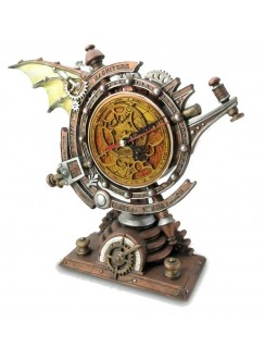The Stormgrave Chronometer Steampunk Pedestal Clock Gothic Plus Gothic Clothing, Jewelry, Goth Shoes & Boots & Home Decor