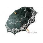 Black Battenburg Lace Parasol