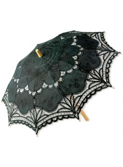 Black Battenburg Lace Parasol Gothic Plus Gothic Clothing, Jewelry, Goth Shoes & Boots & Home Decor