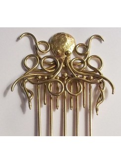 Octopus Bronze Steampunk Hair Comb Gothic Plus Gothic Clothing, Jewelry, Goth Shoes & Boots & Home Decor