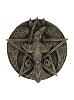 Crescent Raven Pentacle Plaque Gothic Plus Gothic Clothing, Jewelry, Goth Shoes & Boots & Home Decor