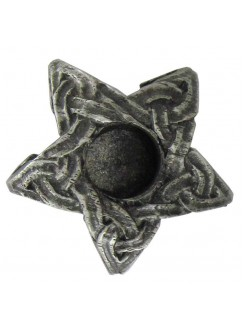 Pentagram Mini Pewter Candle Holder Gothic Plus Gothic Clothing, Jewelry, Goth Shoes & Boots & Home Decor