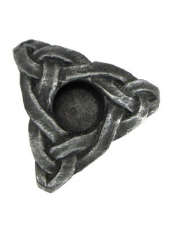 Triskelion Mini Pewter Candle Holder Gothic Plus Gothic Clothing, Jewelry, Goth Shoes & Boots & Home Decor