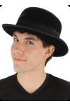 Black Velvet Bowler Hat