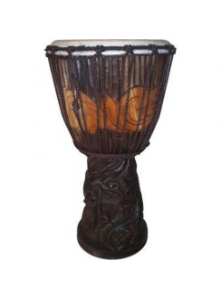Dragon Carved Adjustable Djembe Drum Gothic Plus Gothic Clothing, Jewelry, Goth Shoes & Boots & Home Decor