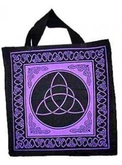 Triquetra Charmed Symbol Cotton Tote Bag Gothic Plus Gothic Clothing, Jewelry, Goth Shoes & Boots & Home Decor