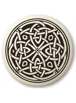 Celtic Spiritual Journey Porcelain Round Necklace Gothic Plus Gothic Clothing, Jewelry, Goth Shoes & Boots & Home Decor