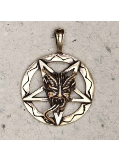 Baphomet Inverted Pentagram Bronze Necklace Gothic Plus Gothic Clothing, Jewelry, Goth Shoes & Boots & Home Decor