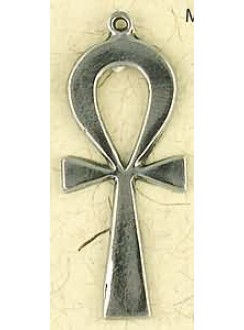 Ankh Plain Pewter Necklace Gothic Plus Gothic Clothing, Jewelry, Goth Shoes & Boots & Home Decor