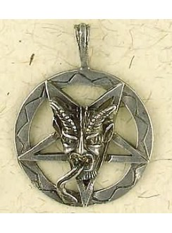 Baphomet Inverted Pentagram Pewter Necklace Gothic Plus Gothic Clothing, Jewelry, Goth Shoes & Boots & Home Decor