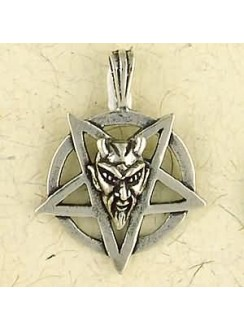 Baphomet Sterling Silver Inverted Pentagram Necklace Gothic Plus Gothic Clothing, Jewelry, Goth Shoes & Boots & Home Decor