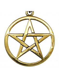 Bronze Pentacle Necklace Gothic Plus Gothic Clothing, Jewelry, Goth Shoes & Boots & Home Decor