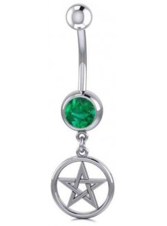 Pentacle Body Jewelry with Gemstone Gothic Plus Gothic Clothing, Jewelry, Goth Shoes & Boots & Home Decor